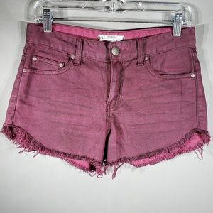 Free People Cutoff Jean Shorts   Colored C22